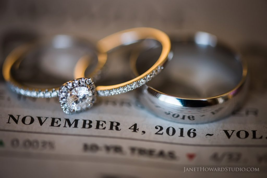 wedding rings and date