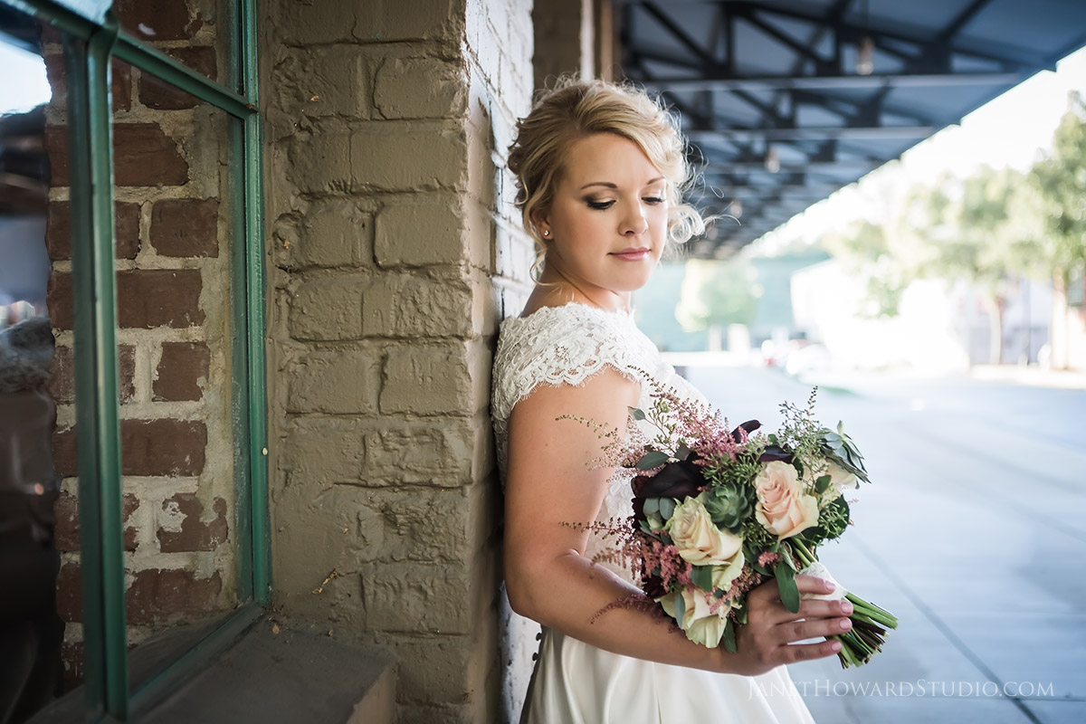 Bride at The Foundry at Puritan Mill Wedding