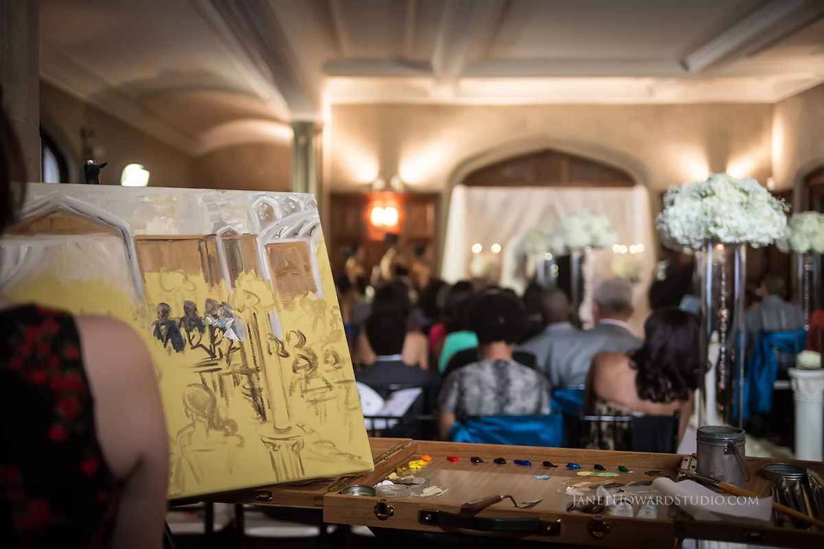 Live wedding ceremony painting