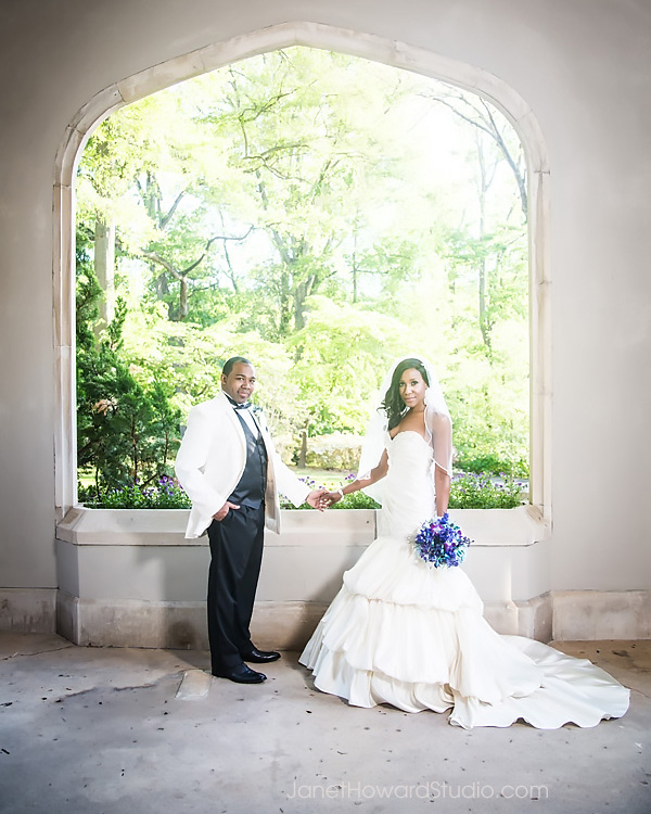 Bride and Groom at Callanwolde