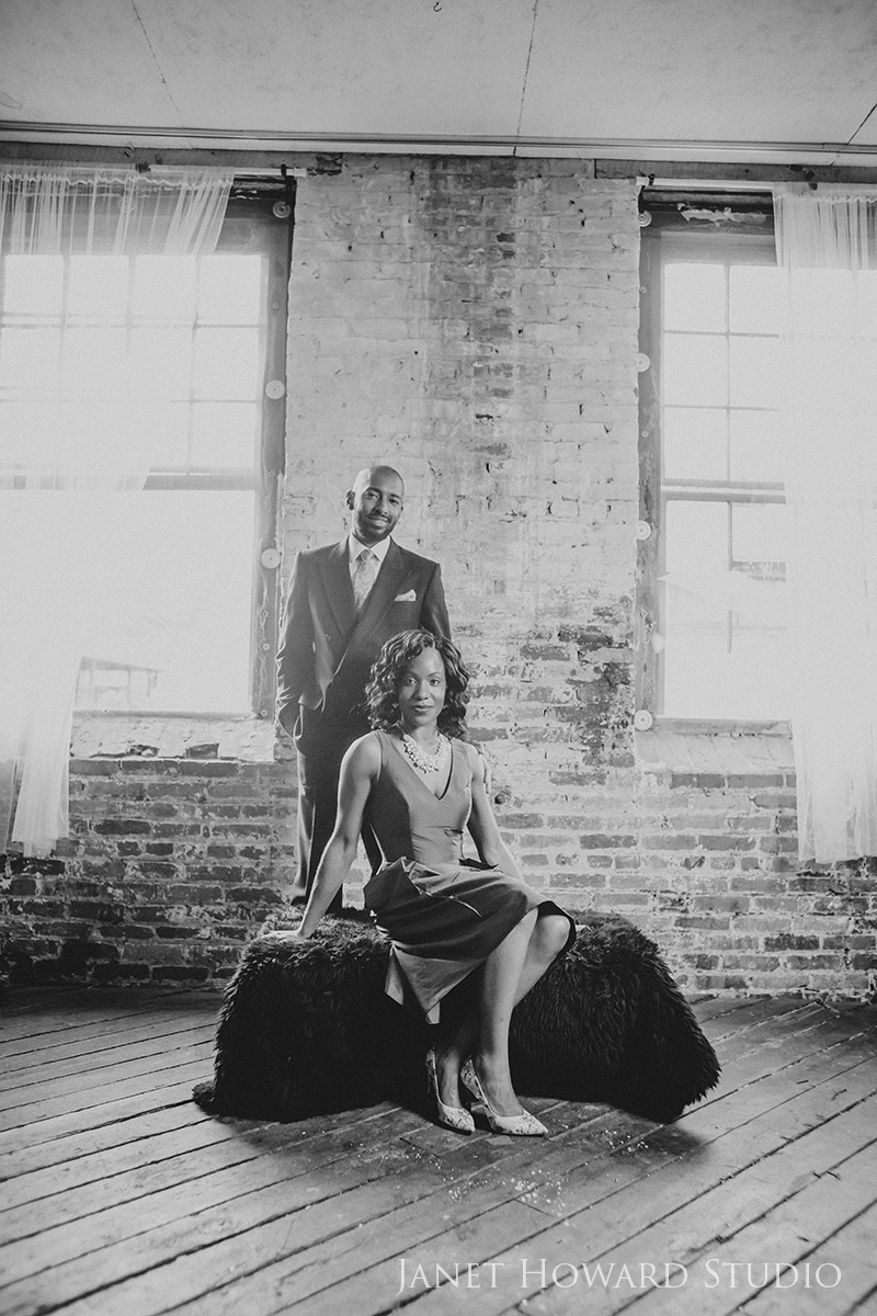 Stylish engagement photos
