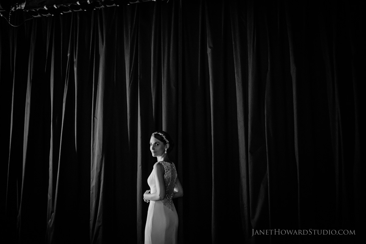 Bride + Groom first look on stage