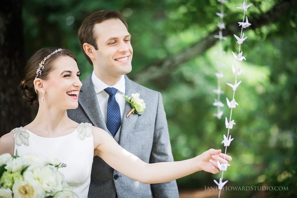 Wedding paper cranes