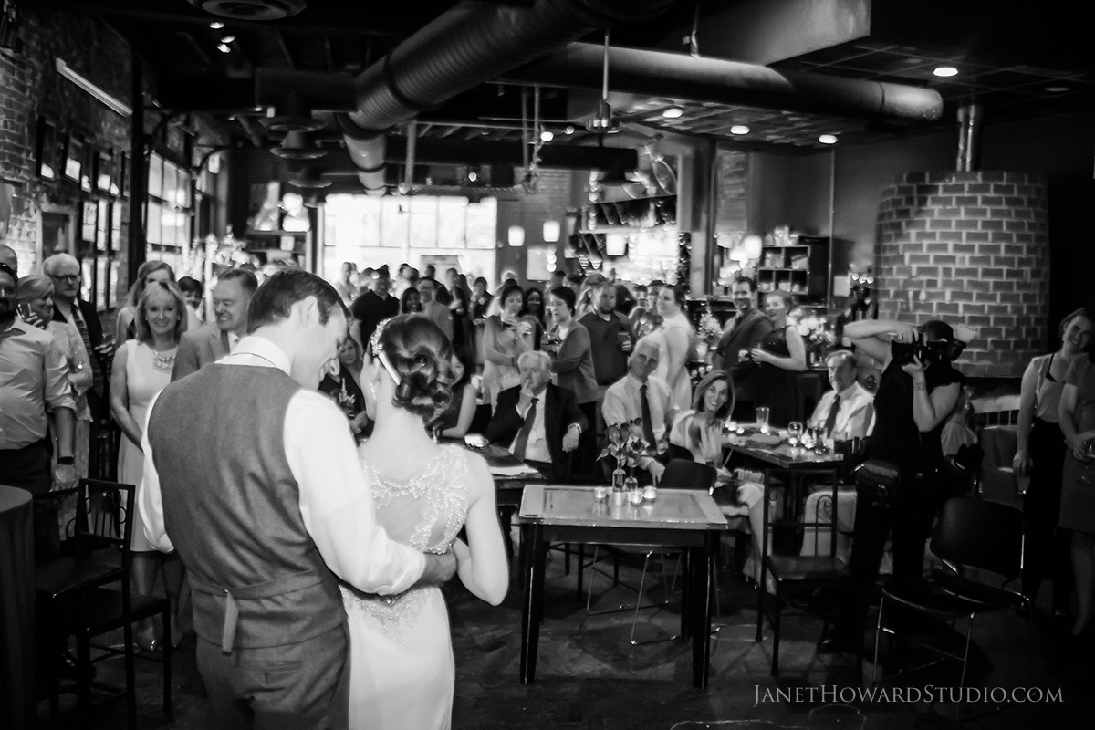 wedding reception at Hendershots in Athens GA