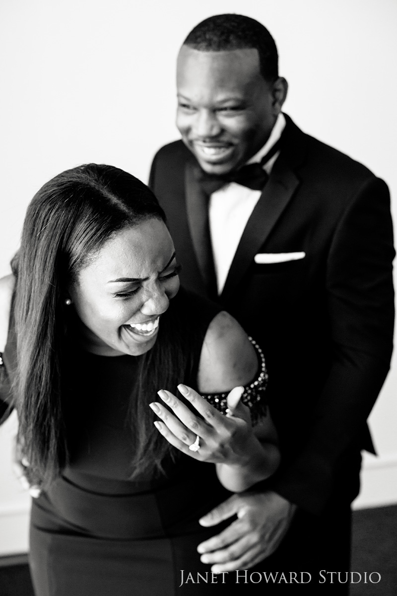 Engagement Photos at The Venetian Room Atlanta
