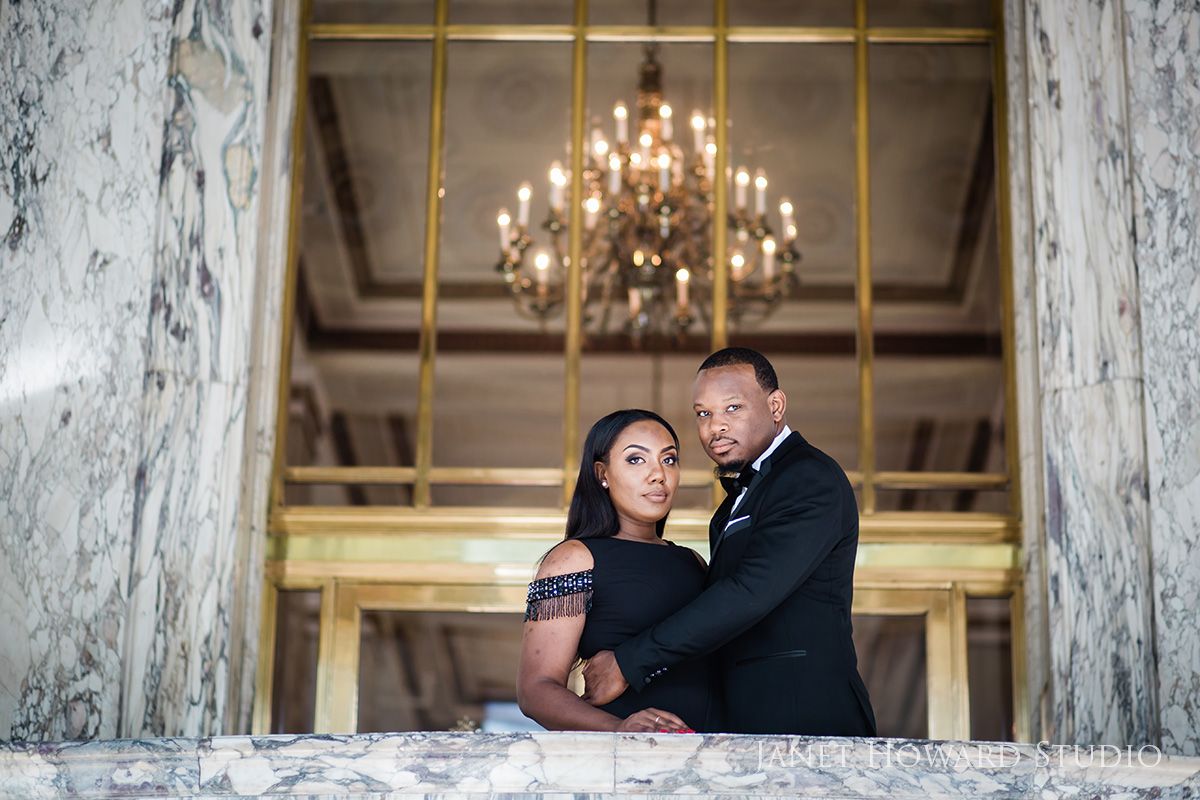 Engagement photos at The Venetian Room