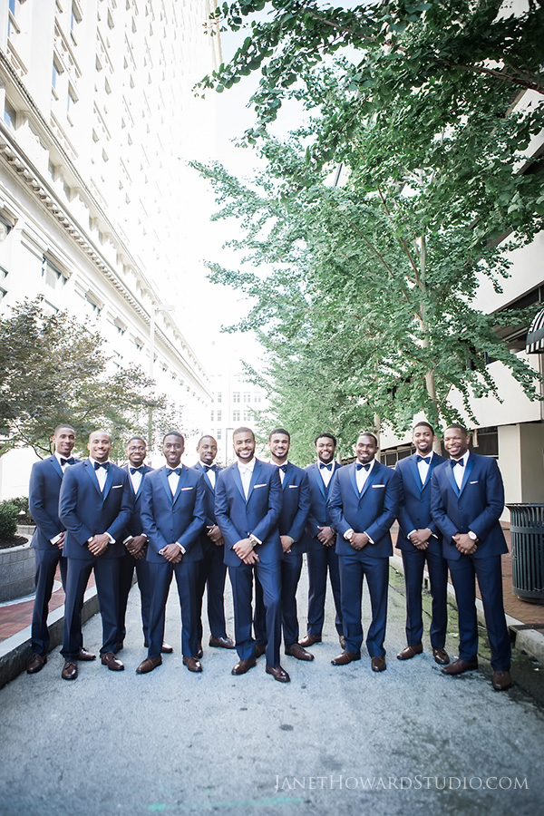 Groomsmen at the Venetian Room Atlanta