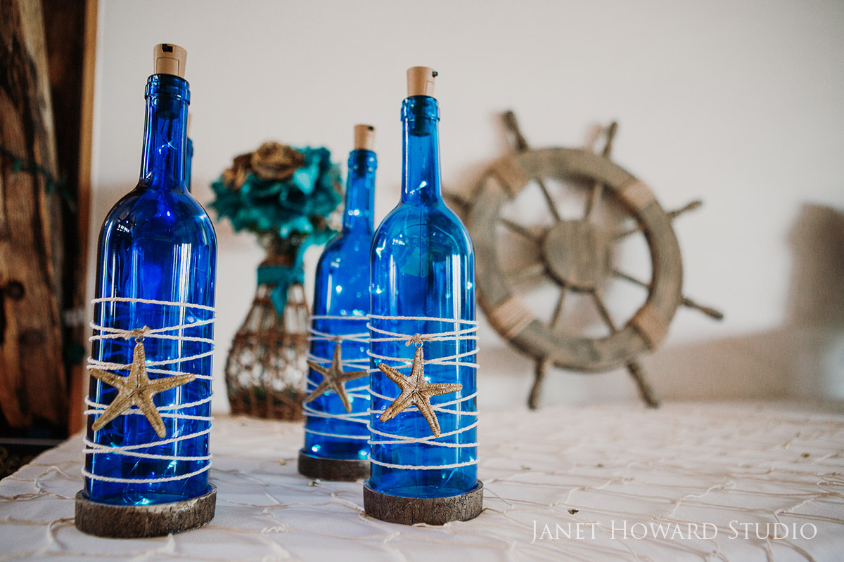 Pirate themed wedding decor