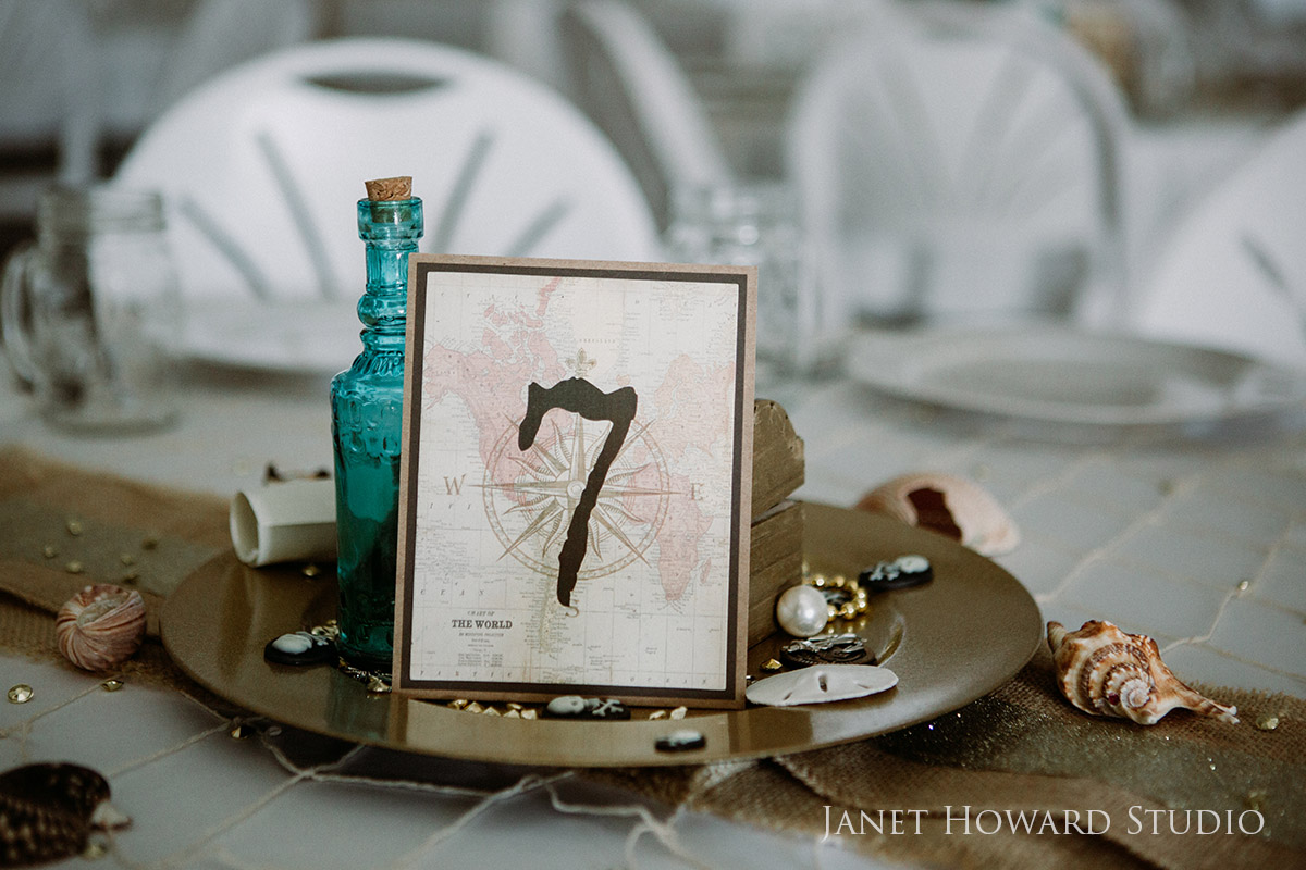 Pirate themed wedding decor