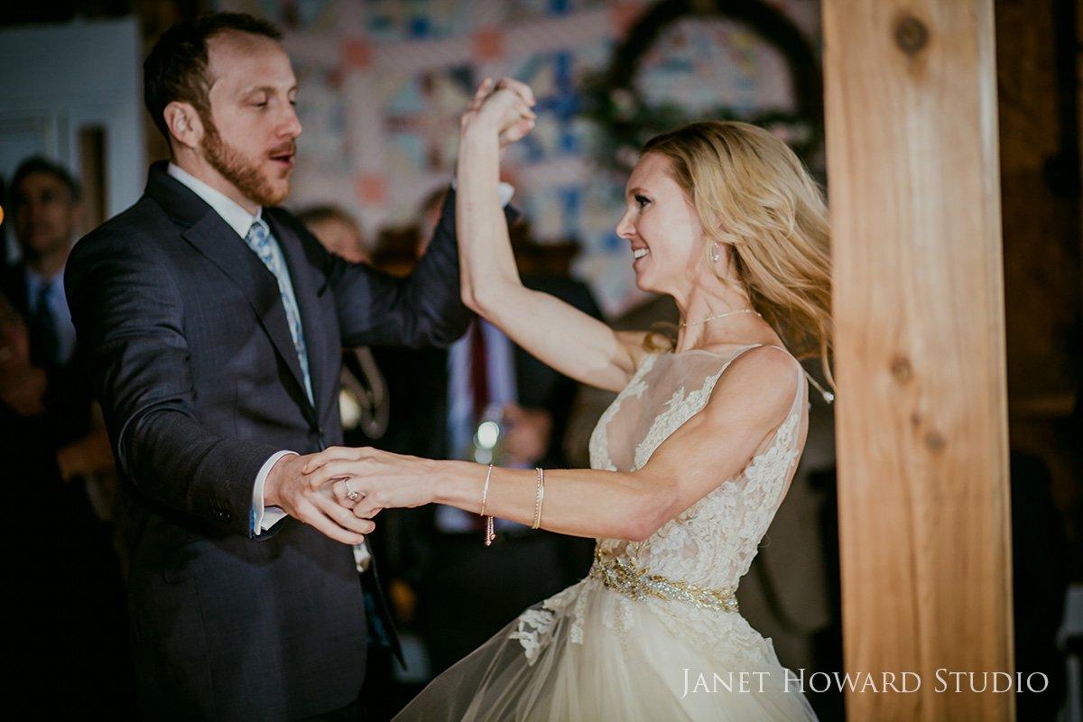 barn wedding reception dance