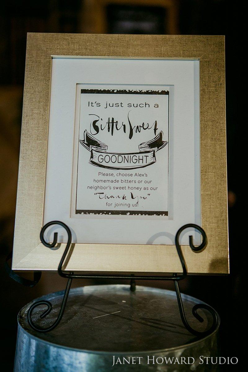 wedding favor sign