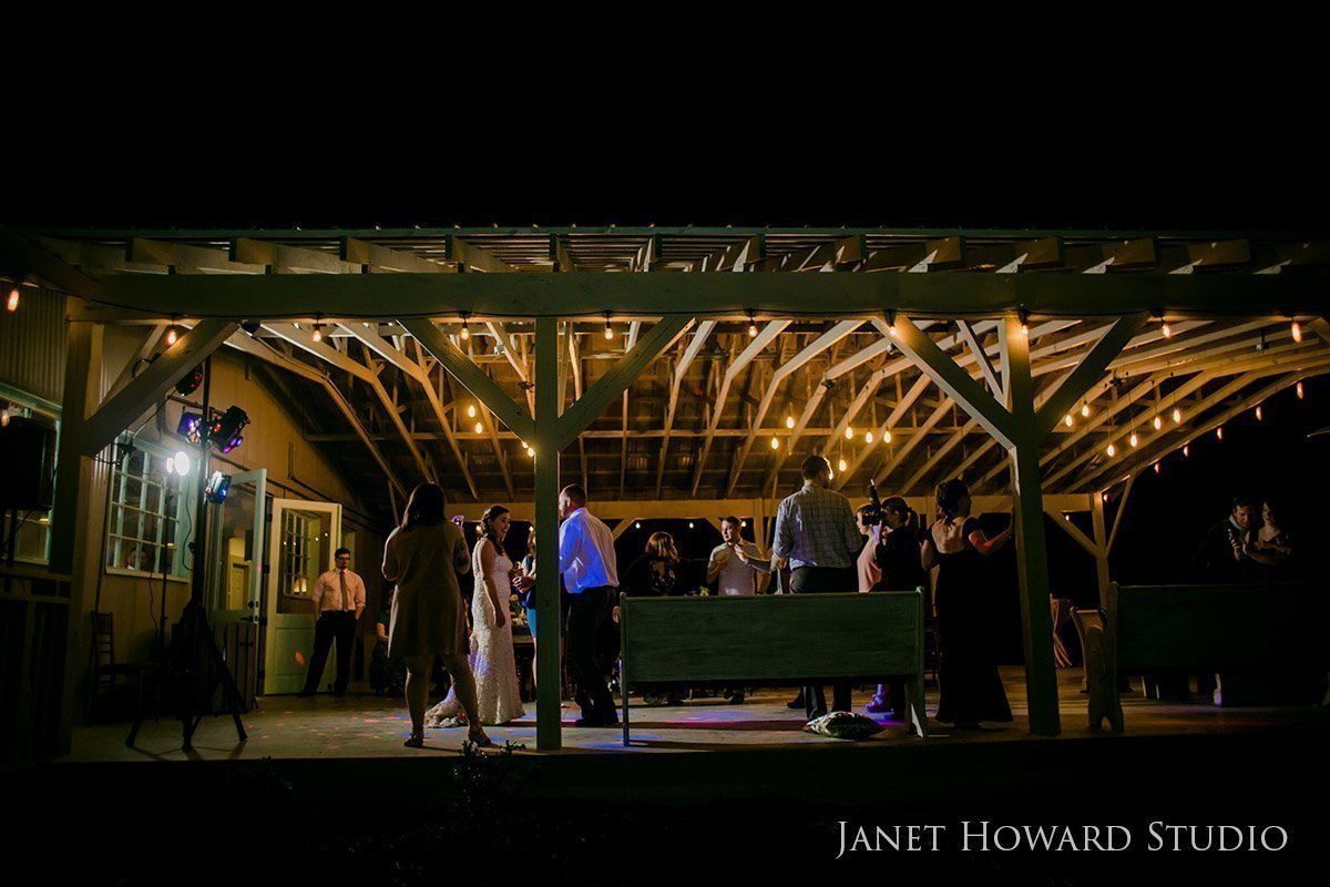 wedding reception at West Milford Farm