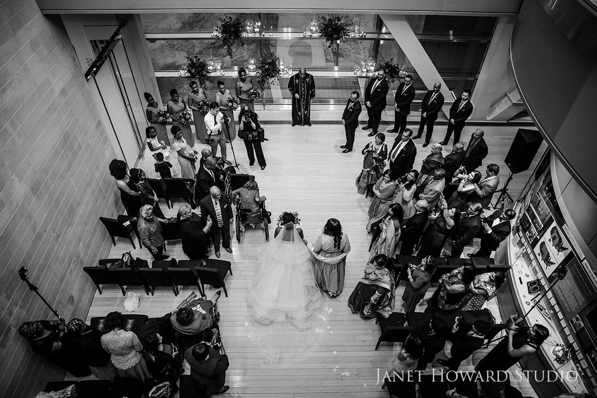 Wedding ceremony at the Clinton Library