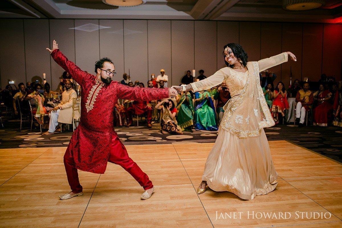 Sangeet dancing bride and groom