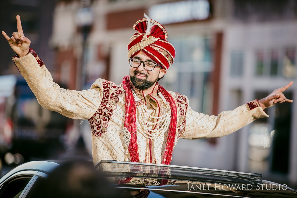 Indian wedding barat