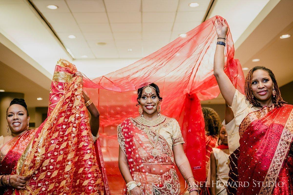 Bride entrance Indian wedding