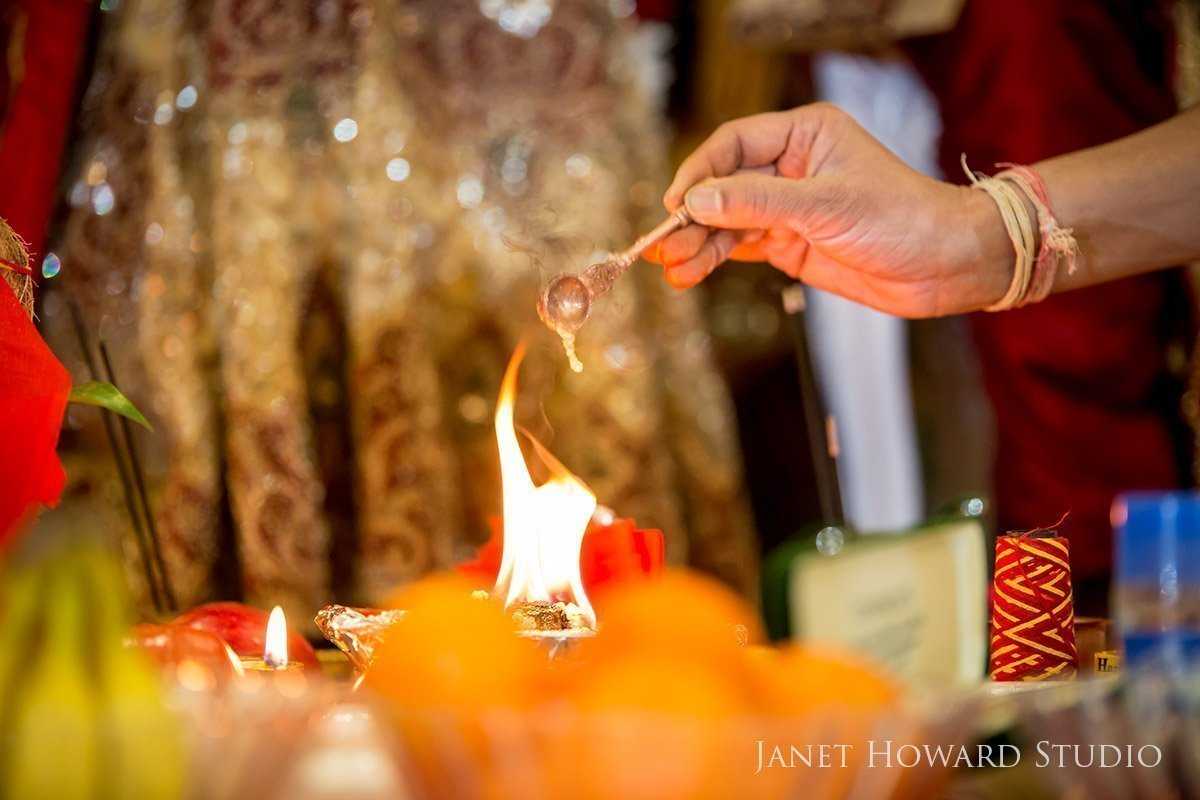 Hindu wedding ceremonial fire