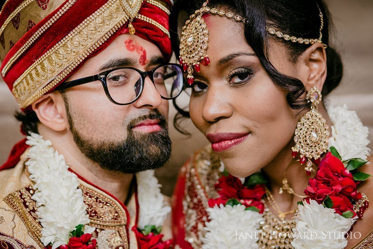 Modern Indian bride and groom