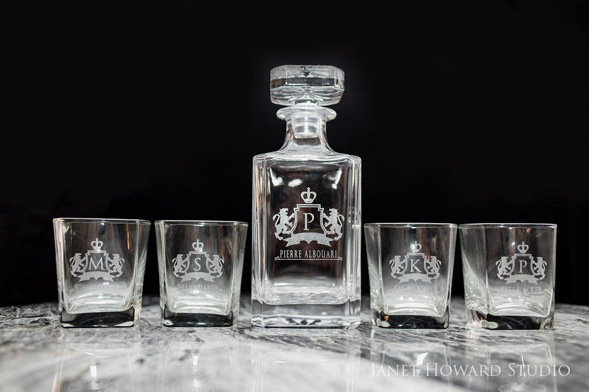 Personalized Whisky Glasses Groomsmen Gift