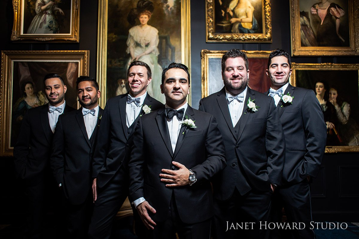 Groomsmen Portrait Photos at The Ritz-Carlton, Atlanta, GA