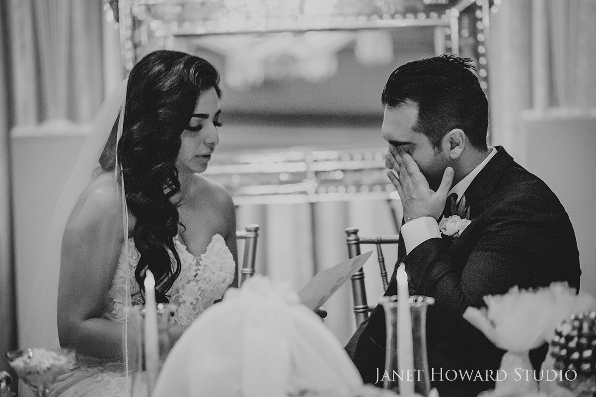 Bride and Groom at the Sofreh Table