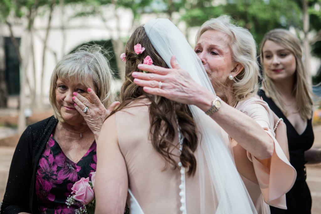 bride with mothers