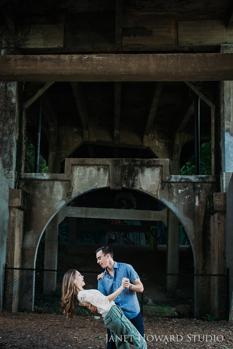 Urban Atlanta Engagement Photo Shoot