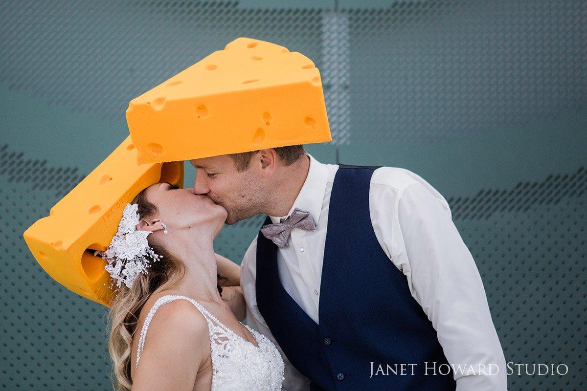 Lambeau Field Green Bay Wisconsin Bride and Groom