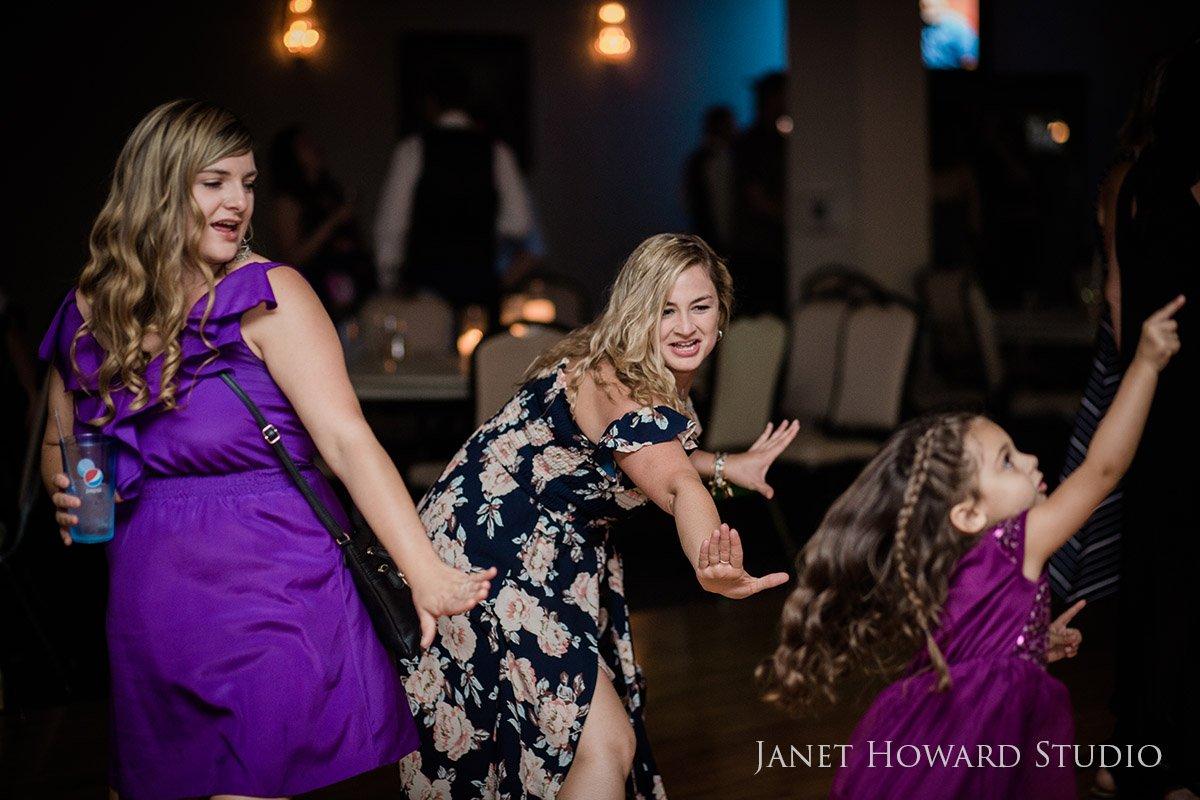 Wedding Reception Guests Dancing