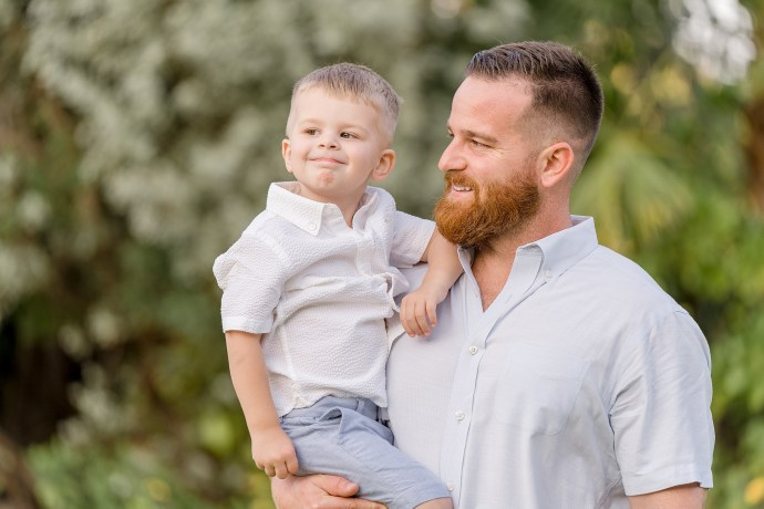 father and son photo