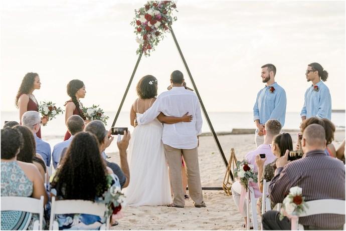 beachy wharf wedding