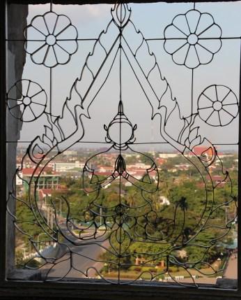 View from Patuxai Monument Vientiane