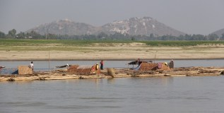 They make rafts out of bamboo to carry bamboo down the river. They live on the boats.