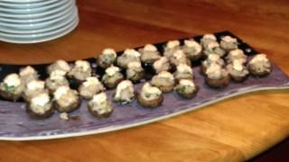 Asian stuffed mushrooms