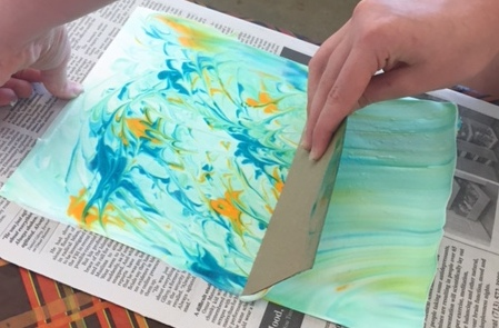 Paper marbling process3