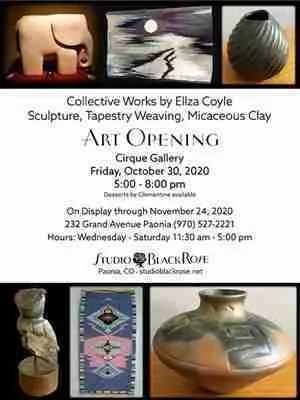 Email and Social Media promotion for Gallery Opening. Website Design by J. Murphy Designs.