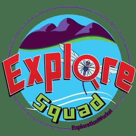 Explore Squad Summer Science Camp Logo.