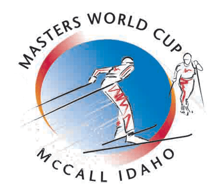 Master's World Cup Cross Country Ski Race logo design and illustration.