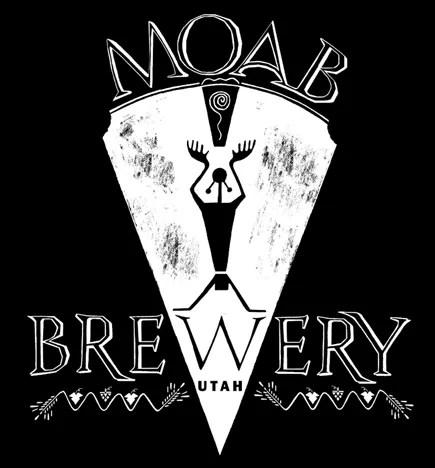 Moab Brewery, Utah logo design and illustration.