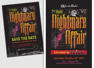 Event program design and digital illustration for annual non-profit fundraising event.