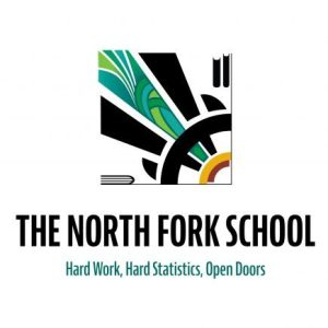 The North Fork School McCall, Idaho logo design.