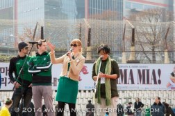 On stage during the Seoul St Patrick's Day Festival