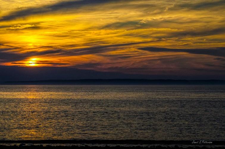 sunset, seascape, Nova Scotia, beach, ocean