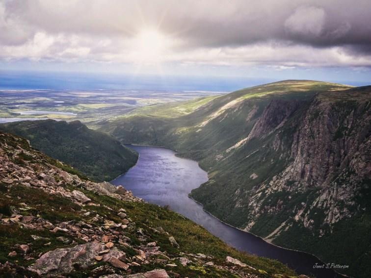landscape, fjord, gros morne, mountain, water, Newfoundland