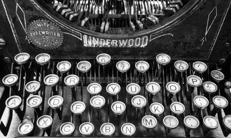 B+W, Typewriter, BC, Underwood