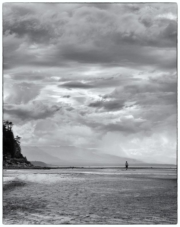 Seascape, Landscape, B+W, skies, BC