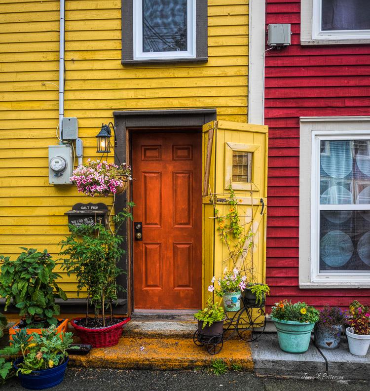 doors, architectural detail, streetscape, St. John's, NL