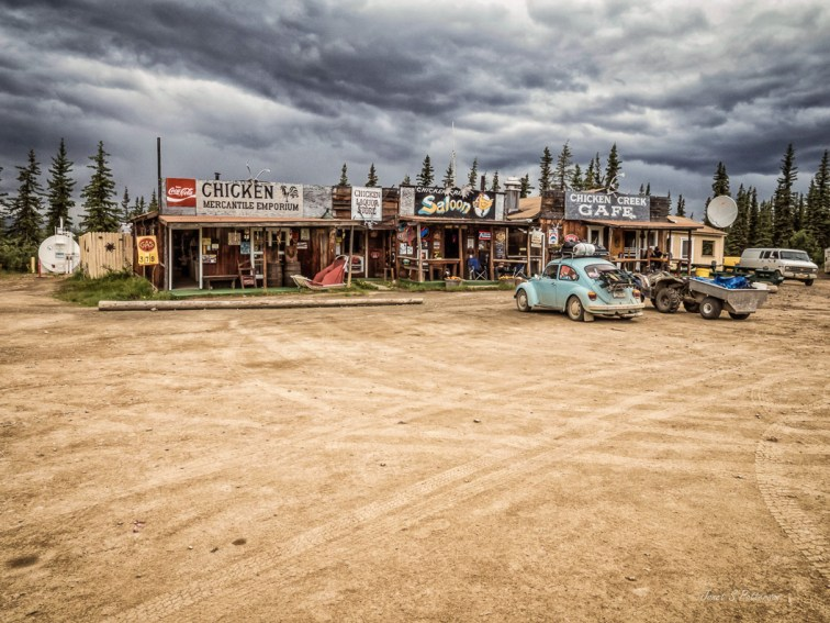 cityscape, street, Chicken, Alaska, Alaska Highway