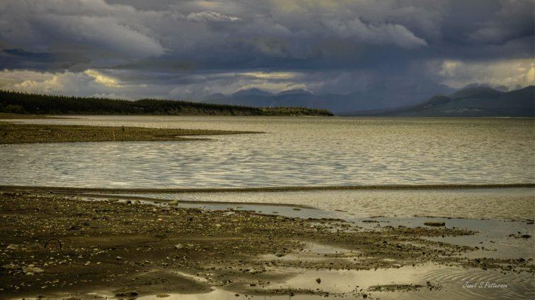 Landscape, BC, Alaskan Highway, Water, lake, skies