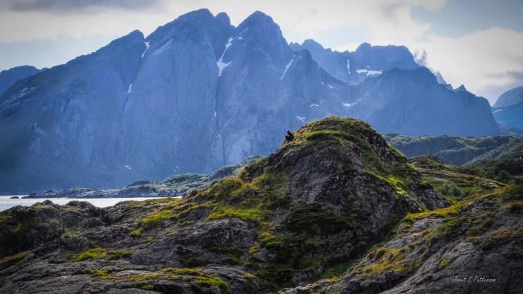 landscape, mountains, people, Lofoten, Norway, 2019